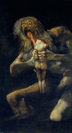 Saturn tanrısı oğullarını yiyior