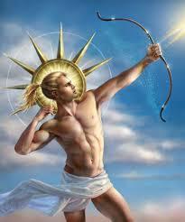 Apollo ışığı, güneşi, dengeli ve uyumu, denetimi, düzeni, bilgiyi ve aklı çağrıştırır.