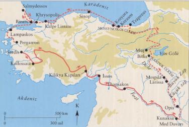 Anabasis OnBinlerin Dönüşü Haritası